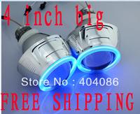 4 inch Big HID Bi xenon Projector Lens Hi/Lo Headlight kits Angel Eyes Devil Eye 6000K 8000K 4300K H4 H1 H7