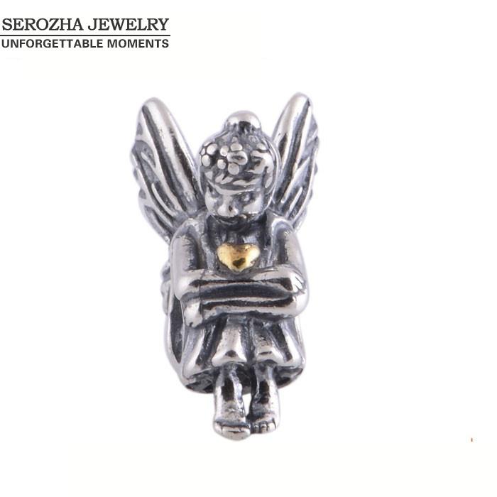 Spirit Goddess Beads Authentic 925 Sterling Silver Bead Compatible With Pandora Chram Beading Bracelet(China (Mainland))