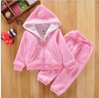 Hot sale Brand Kids suits Clothing Sets Children Hoodies Down fleece Jacket+Pants Winter boys girls Cotton-Padded clothes