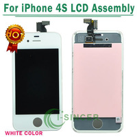 by EMS DHL Free Shipping 100% Guarantee Original For iphone 4S LCD Screen with Digitizer Assembly Black 10pcs/lot
