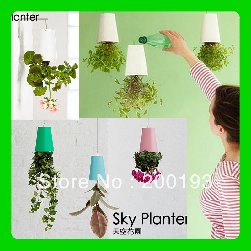 New Arrival and Hot selling Free Shipping Magic Recycled Sky Planter for Home Decoration(color: white,pink,blue,black)(China (Mainland))