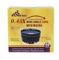 High Quality 58MM 0.45x Wide Angle Lens + Macro Lens for Cannon 350D/ 400D/ 450D/ 500D/ 1000D/ 550D/ 600D/ 1100D  DSLR Camera