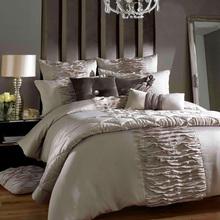 luxury bed comforters set/romantic comforter set/6 pcs silk Wedding Bedclothes/European Bedding Set/king size bed(China (Mainland))