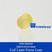 Co2 laser focus lens diameter 20mm focal length 101.6mm thickness 2mm USA ZnSe material Free Shipping