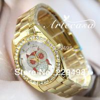 2014 New,Retail Fashion Owl & Bear Model Women Wrist Watch,Rhinestone Crystal Gift Watch,Women Dress Quartz Watch,Free Shipping