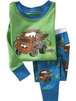 New 2015 Kids Pajamas Sets Baby Clothing Cartoon Car pijama infantil Sleepwear Baby Boy Clothing Set Pijamas Kids