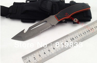 Free Shipping!Fox Fixed Blade Knife,5Cr15Mov Blade,Orang+Black G10 Handle,57HRC,Diving Camping Survival Knife,High Quality,Hot