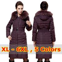 Brand Duck Down Jacket Women Down Coat Women Winter Long Female 2015 New Mother Clothing Ladies Plus Size Fur Hood Down & Parkas