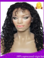 New arrival! Cheap! Popular! 130density Black Curly Brazilian virgin human hair wig front lace wig & full lace wig glueless wigs