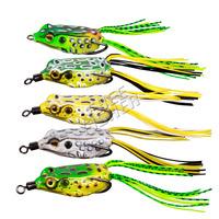 5 pcs soft plastic bait/lure hollow body fishing soft froglure 4.5cm/1.7in 8g/0.28oz