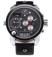 2014 Top Branded Big Dial Die  sel Men Watches Analog Digital  Army Military Sports Wrist Watch Japan Miyota Movement ML0046