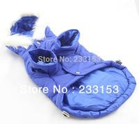 Free Shipping Large Dog Clothing Dog Jacket Hooded Coat Large Dog Thickening Clothes Dog Warm Vest Puffy Ski Coat Blue Color