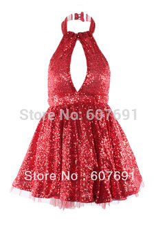HOT Free Shipping ,waist lace dress sexy nightclub Slim  Pompon Sleeveless vest party dress FT169