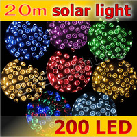 Holiday Sale 20m 200 LED Waterproof Colorful  Solar Power String Light Fairy Lights For Christmas Decoration Party Garden