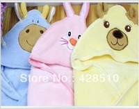 Newest Baby care Cartoon Coral fleece blanket towel,Super Soft baby Bedding set, free shipping