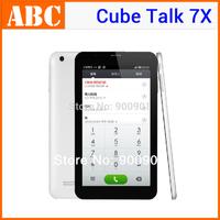 "white 3G WCDMA phone call Cube Talk 7X Tablet PC dual core 7"" IPS U51GT W talk 7x Android MTK8312 Bluetooth/FM GPS two SIM Cards"