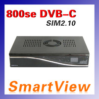 2pcs 800HD se with DVB-C tuner decoder DM800HD se 800se SIM2.10  800se cable receiver free shipping
