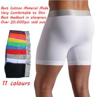 Popular Men Long Boxers (C2091) 10pcs/lot men's boxer shorts Wholesle Underwear Beach Short Trunk Retail Packing free shipping