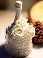European retro zakka ceramic ornaments for wedding table Handbell rose embossed small bell rattles  Home Decor