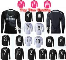 Top!Best thailand quality 14/15 Real Madrid 2015 long sleeve Jerseys Ronaldo ALONSO Isco bale JAMES RAMOS long sleeve Jerseys(China (Mainland))