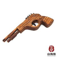 New 2015 Wooden Toy Gun outdoor fun & sports  guns pistols Use Rubber Band As Bullets Wooden nerf gun