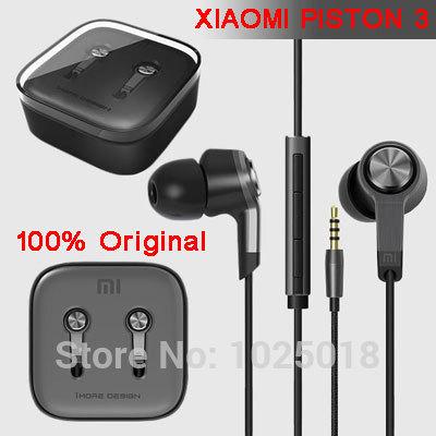 Top Quality 100% New XIAOMI Piston Earphone Headphone Headset Silver White Gold with Mic for MI2 MI2S MI2A Samsung HTC Free Ship(China (Mainland))