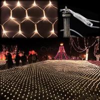 Hot Sell Warm White 100 LED String Light Net Mesh Fairy Lights Decoration Lighting for Christmas Party Wedding 220V EU TK1121