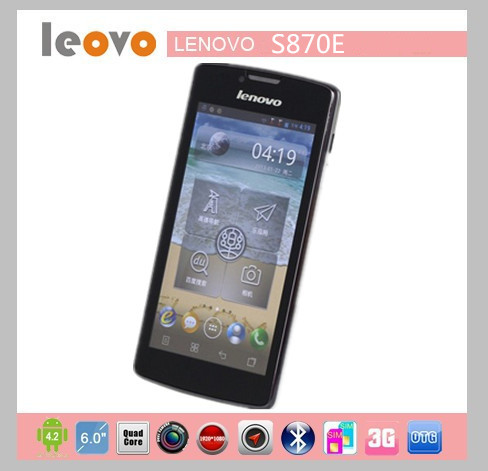 Lenovo S870E Original Phone Cell Phone Smartphone GSM+CDMA EVDO 3G dual sim dual standby Android 4.0 smart 4.5 inch mobile phone(China (Mainland))