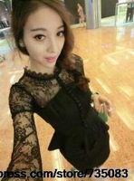 Sex Women Ladies V-neck Mini Slim Lace Dress Party Clubwear 3/4 Sleeve  006