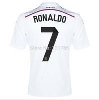14 15 Ronaldo Marcelo Bale Benzama football shirt 2015 Real Madrid Jersey 2014-2015 Top Thailand Quality Real Madrid Jersey