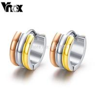 Earrings for women  fashion 3 colors stud earrings jewelry stainless steel earrings free shipping
