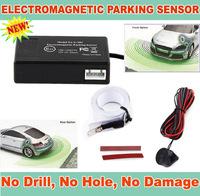 Car Electromagnetic parking sensor,no drill hole,Car Reverse Backup Radar Sensors, Backup Radar System,easy install