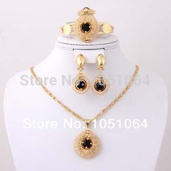 2014 Style Blue&black, red Crystal Pendant Vintage Wedding Jewelry For Bride ...