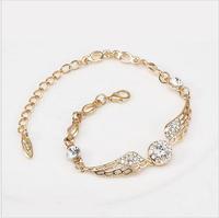 Best Gift New Design Fashion Gold  Plated  Bracelet,Harry Potter  Wing Style Bracelet With Rhinestone