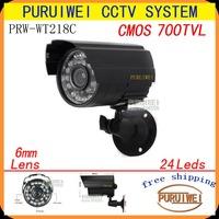 "100% Original 1/4""CMOS 700TVL 24leds IR Outdoor Weatherproof Day Night Vision Security CCTV Surveillance with bracket."