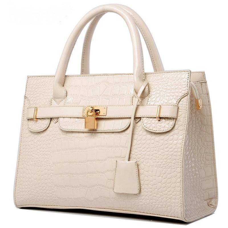 Solid Bag Women Leather Handbags Crocodile Vintage Women Shoulder Bags Women Messenger Bags Women Handbags Bolsas Harajuku TOTES(China (Mainland))