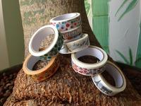 1627 !new pattern free shipping promotion -- Colorful Printing Masking Tape, rice Paper Tape , 500pcs/lot