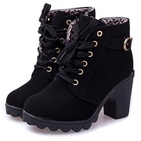 new 2014  brand  platform high heel single shoes vintage Women Motorcycle Boots Martin Boots,size 35-39,free shipping 367