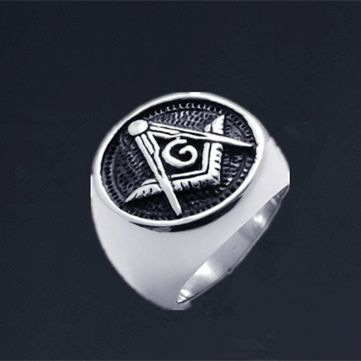 Punk Gothic Mason Pagan Triangle Stainless Steel Men's Ring Free Shipping(China (Mainland))