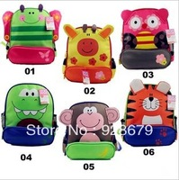 cartoon designed animal10L lovely school fashion child small double-shoulder school bag animal style study learning student gift