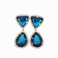 старинный большой кристалл бабочки серьги Стад аксессуары новый элегантный дизайн женщин Европы ювелирные изделия