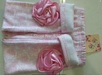 New 2014 winter girls' leggings, childrenplus velvet pants, full printed roses girls Leggings, dimensional diamond flower