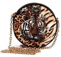 luxury brand bolsa leopardo 2014 women leopard print bags by famous designer gold chain bag tiger head pu leather bag