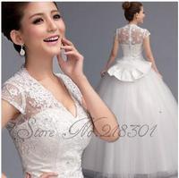 2014 sweet vintage bandage tube top wedding dress princess bride wedding dress vestido de novia vestido de noiva 002