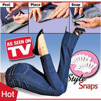 1pack=16pairs New 2015 My Way Style Snaps Snap Clip Covers Hemming Trousers Clip Spants Snaps As Seen On TV -- MTV11 PT09 ST