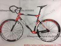 Hot Sale!Road Bike Red BMC Impec Frame+50mm full Carbon fiber Wheels/wheelset+Handlebar+Saddle
