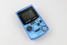 consola de mano para gbc clon con cristal color azul retroiluminada 188 juegos dentro(China (Mainland))