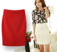 2014 New Women Spring Summer Hip skirt Fashion Brand High Waist Candy skirts Plus Size OL Skirt For Women half-length skirts