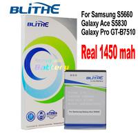 Blithe SAM-EB494358VU  Real 1450mAh Battery For samsung S5830 Galaxy Ace, Galaxy Pro, GT-B7510, S5660