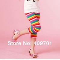 New 2014 Children Capris Pants NOVA Brand Fashion Casual Girl Legging Colorful Striped Pants Baby Girl Print Cotton Clothes